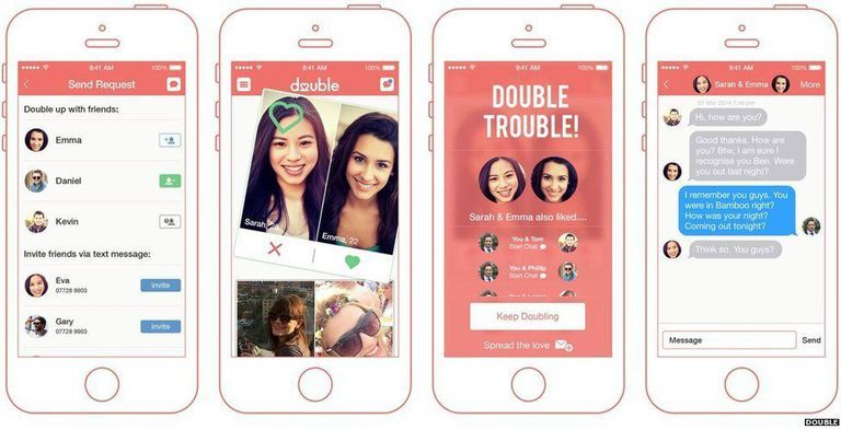 Online hookup apps with a blue circle