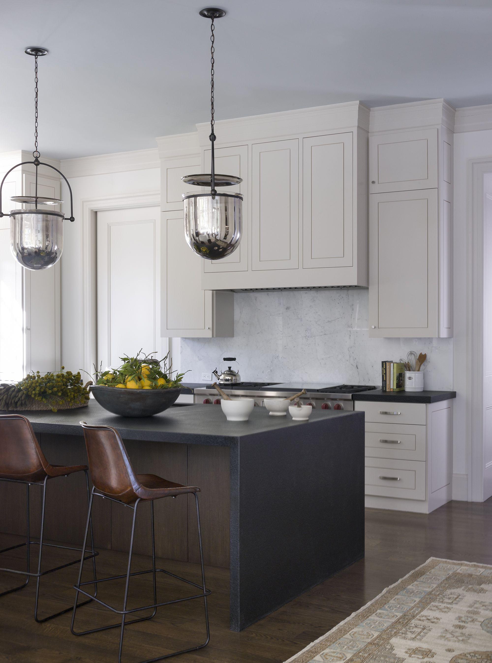 20 Polished Kitchens With Striking Black Kitchen Islands Dark Kitchen Island Trend