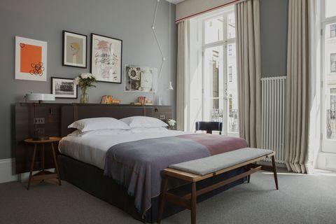 Bedroom, Furniture, Bed, Room, Bed sheet, Bed frame, Interior design, Mattress, Property, Bedding,