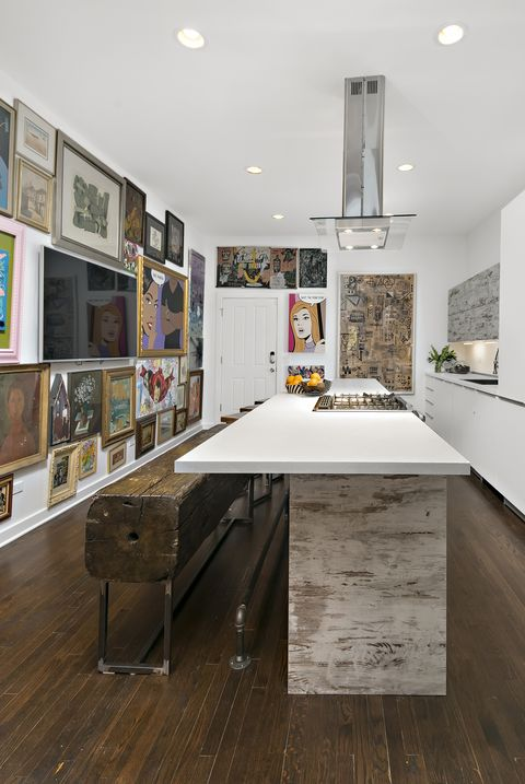 Room, Interior design, Furniture, Floor, Property, Ceiling, Building, Countertop, Table, House,