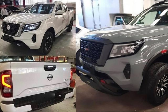 new nissan frontier leaked photo collage