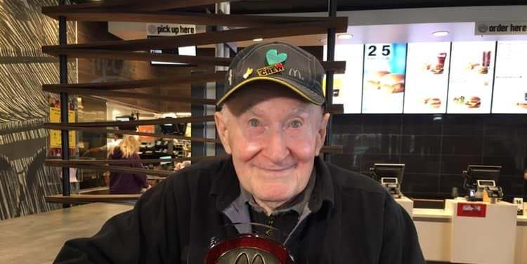 McDonald's Employee Of The Year Is 89-Year-Old Man