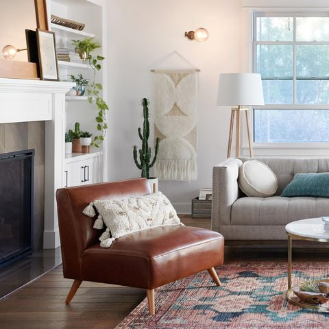 world market leather chair living room