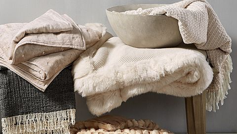 Furniture, Room, Textile, Table, Linens, Fur, Bedding, Wood, Interior design, Beige,