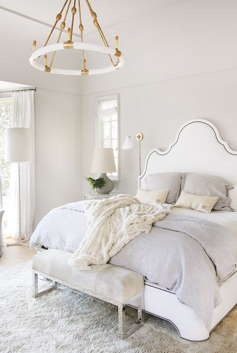 Bedroom, Furniture, White, Bed, Room, Bed frame, Bed sheet, Interior design, Property, Bedding,