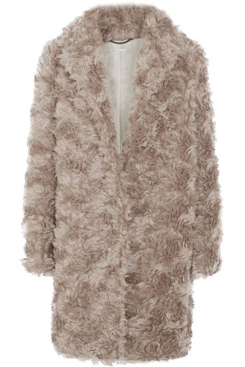Clothing, Fur, Outerwear, White, Fur clothing, Sleeve, Coat, Jacket, Pink, Beige,