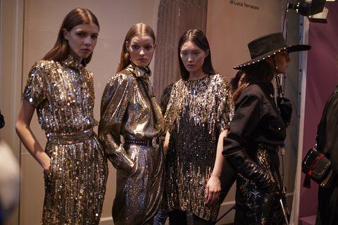 Fashion, Fashion design, Event, Dress, Haute couture, Performance, Metal,