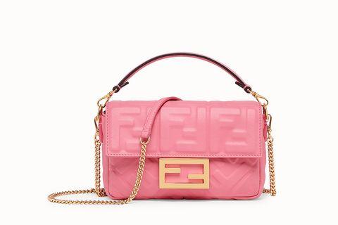 粉紅色經典Baguette包