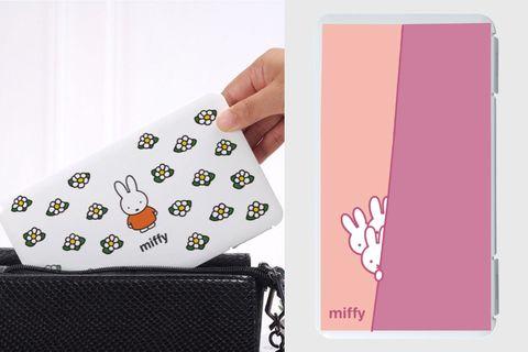 白色和菊粉色的口罩收納盒