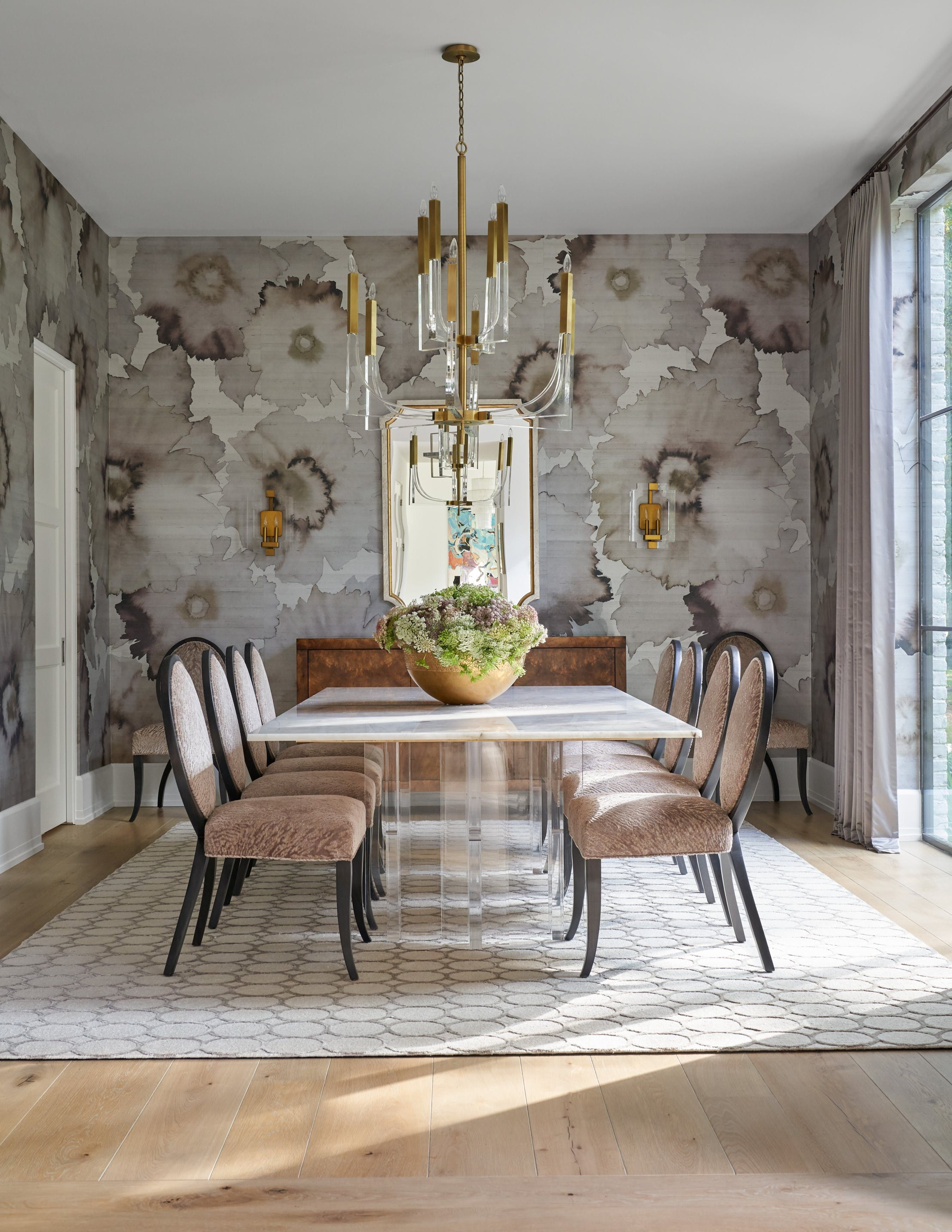 Dining Rooms With Fl Wallpaper, Wallpaper For Dining Room Wall