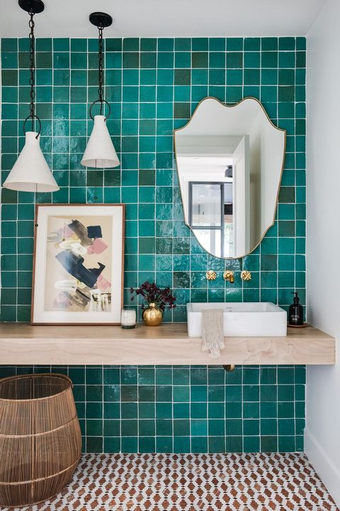Bathroom, Tile, Room, Turquoise, Blue, Interior design, Floor, Teal, Turquoise, Home,