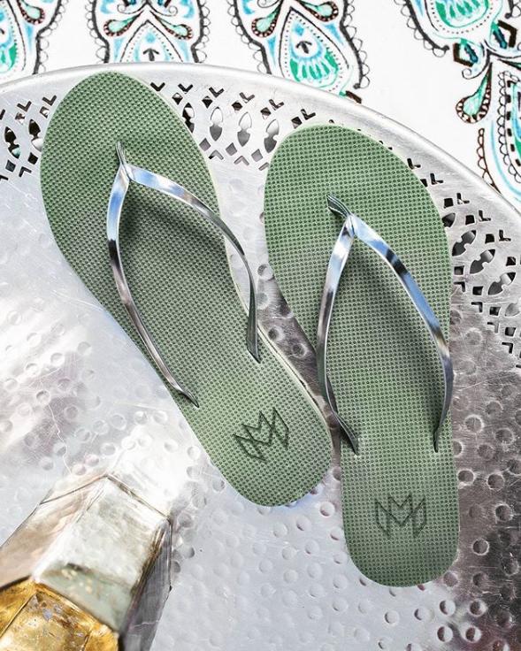 Malvados, 度假, 拖鞋, 夾腳拖鞋, 人字拖鞋, 大地色, 金屬風