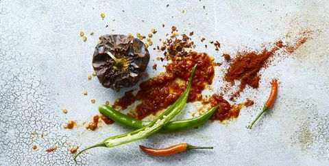 Food, Ingredient, Cuisine, Dish, Paprika, Spice, Bell peppers and chili peppers, Chili pepper, Vegetarian food, Peperoncini,