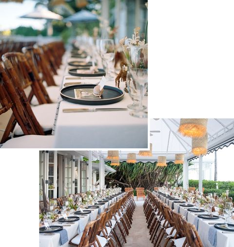 la table de fête de bienvenue
