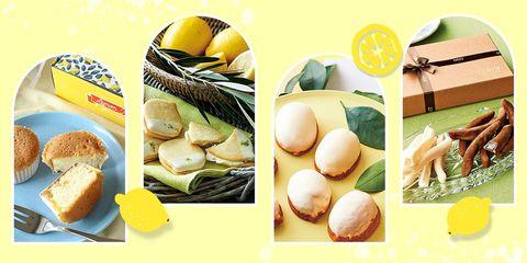 レモンを使ったお菓子の組み合わせ画像