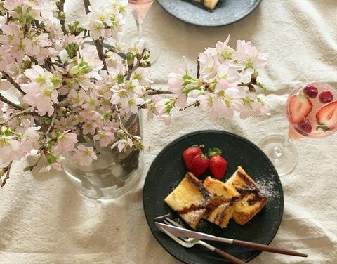 エディター川口ゆかりさんの自宅でお花見フレンチトースト