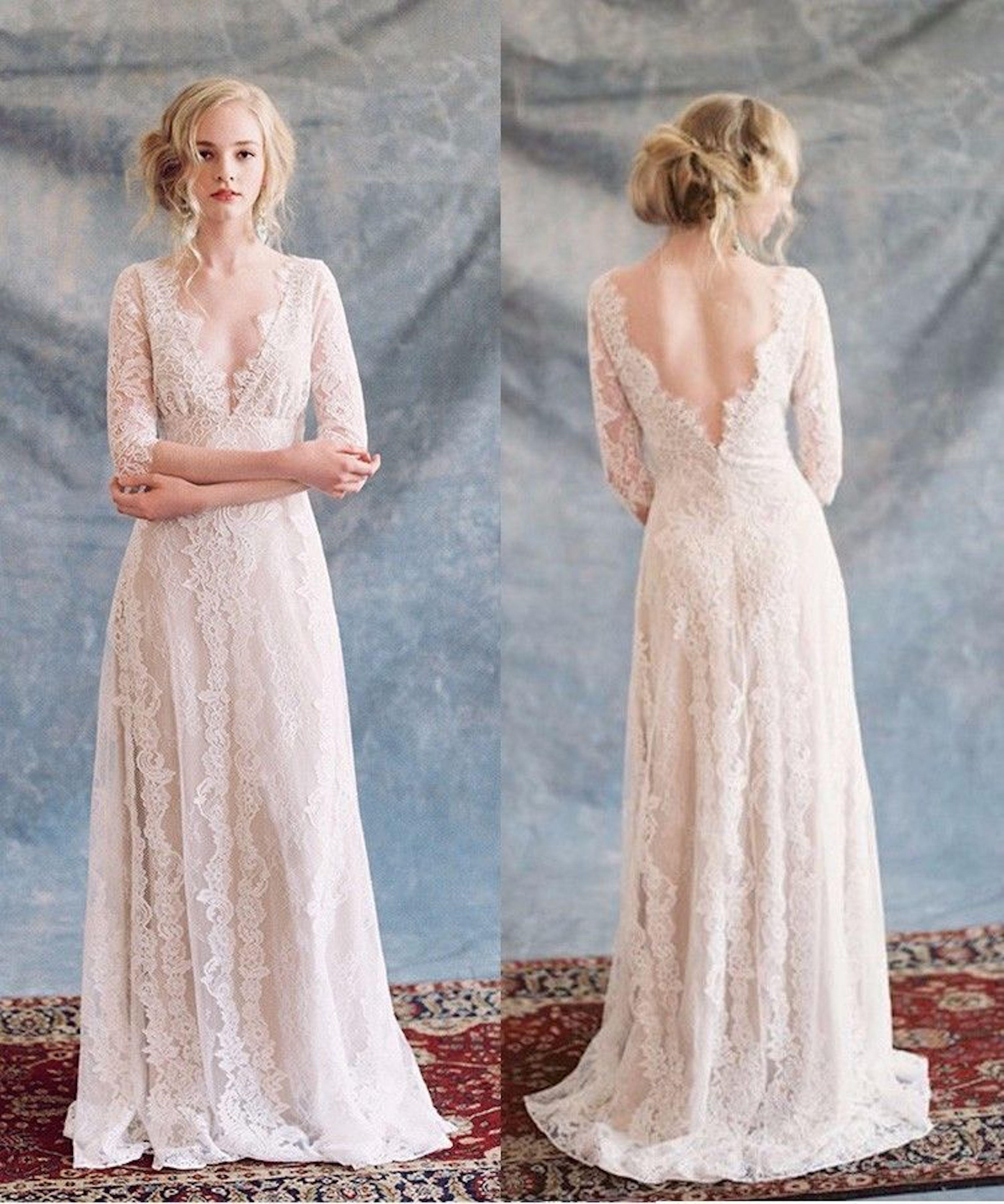 Matrimonio Country Chic Abito Sposa : Matrimonio boho chic con lo shopping online è anche low cost