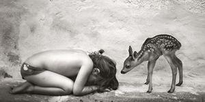 Alain Laboile, foto bambini, cerbiatto