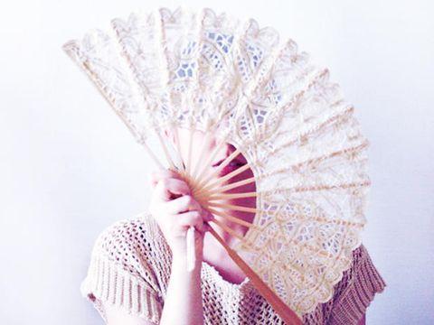 Skin, Textile, Pink, Fashion, Decorative fan, Pattern, Hand fan, Paper, Peach, Paper product,