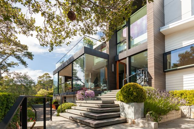 art filled modern home
