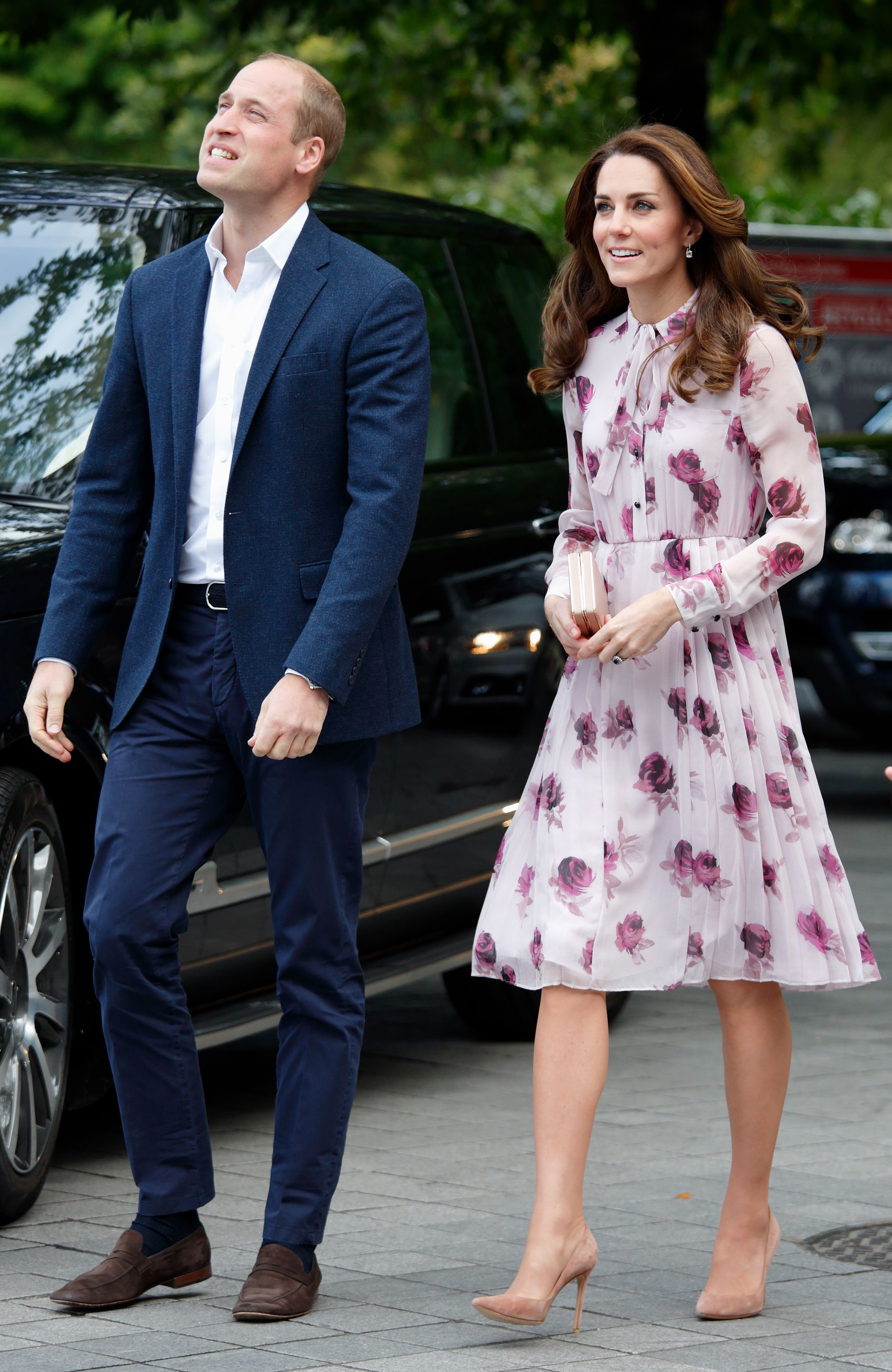 """Shop Now Gianvito Rossi """"Gianvito 105"""" Pumps in Taupe Suede, $675 The Duchess also owns the same pair of Gianvito Rossi pumps in taupe, which she wore to the World Mental Health Day celebration in October 2016."""