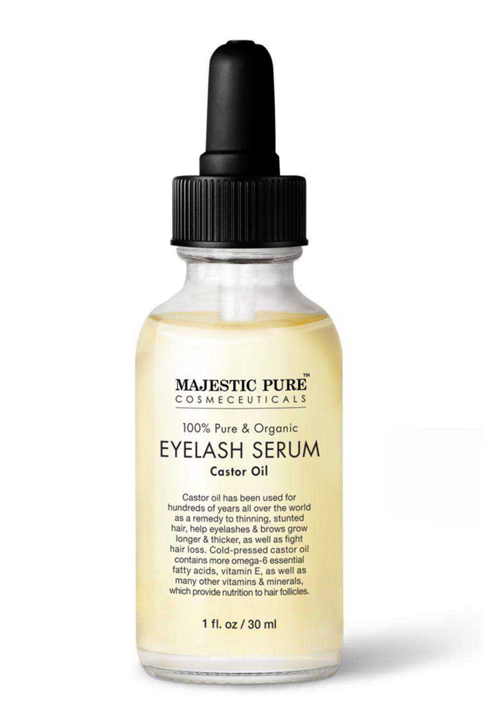 Majestic Pure 100 % Pure and Organic Eyelash Serum Castor Oil