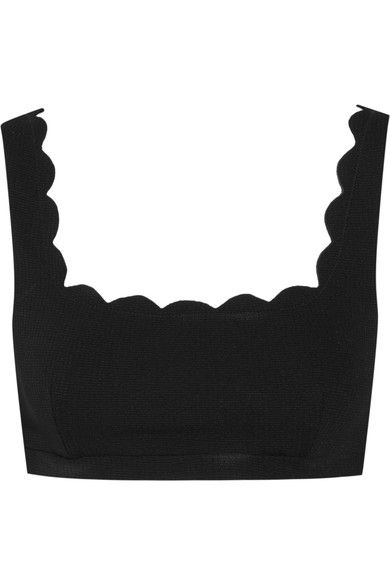 Black, Brassiere, Clothing, Crop top, Neck, Sleeve, Costume accessory,