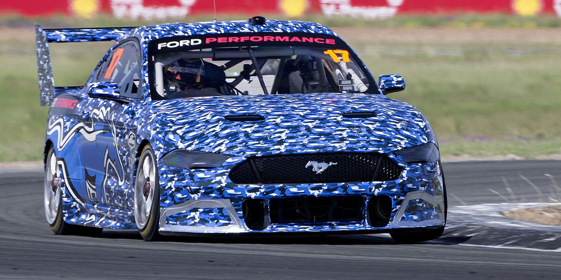 The new ford mustang supercar looks sufficiently wild