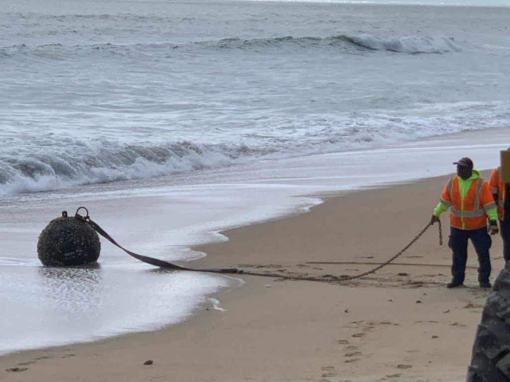 Mysterious Military Mine Washes Ashore in North Carolina