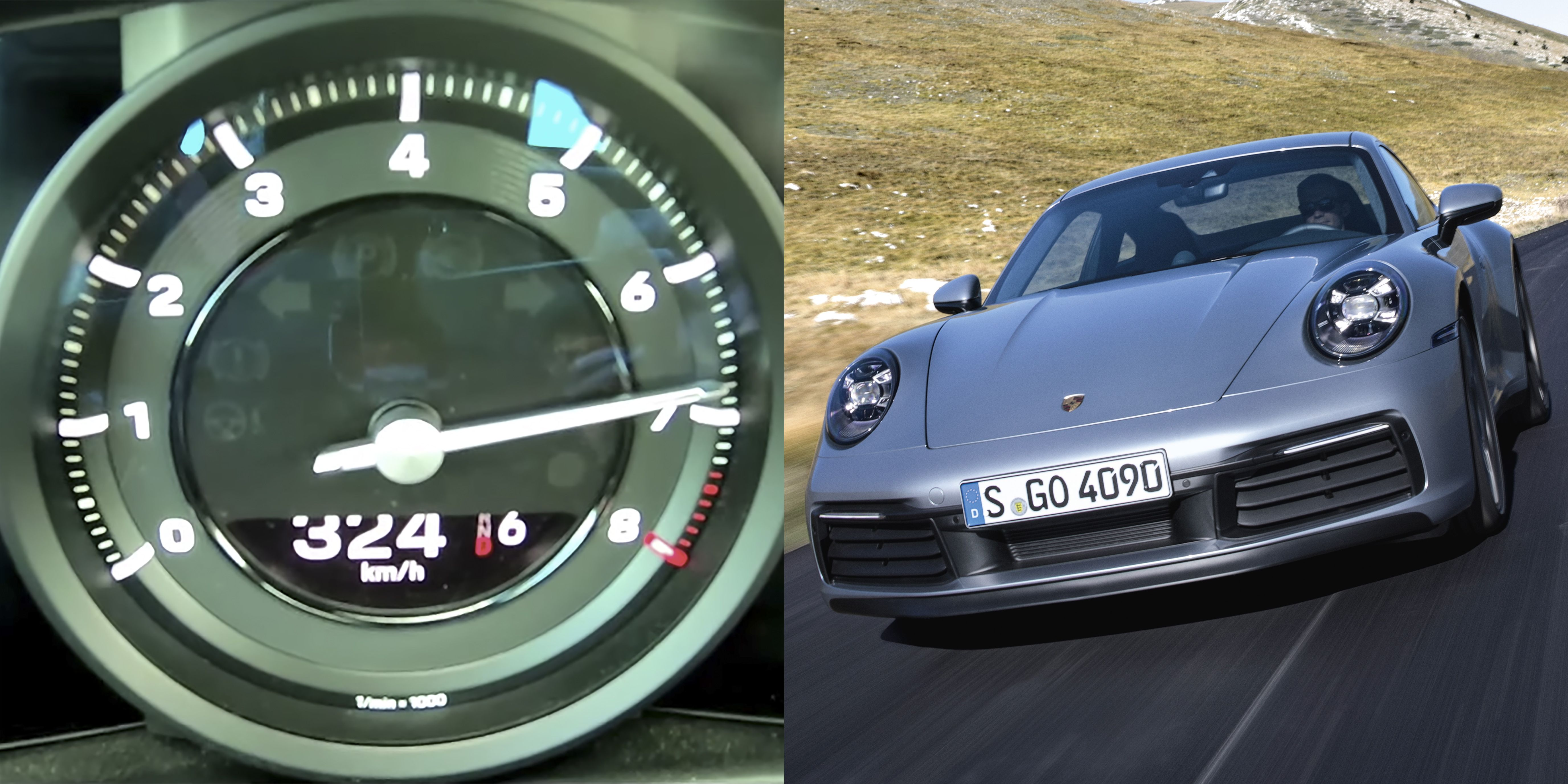 Watch the 2020 Porsche 911 Carrera S Hit an Indicated 200 MPH