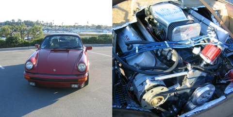 This Porsche 911 Is Powered By An 8 2 Liter Cadillac V8