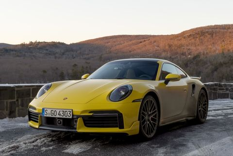 2021 porsche 911 turbo yellow