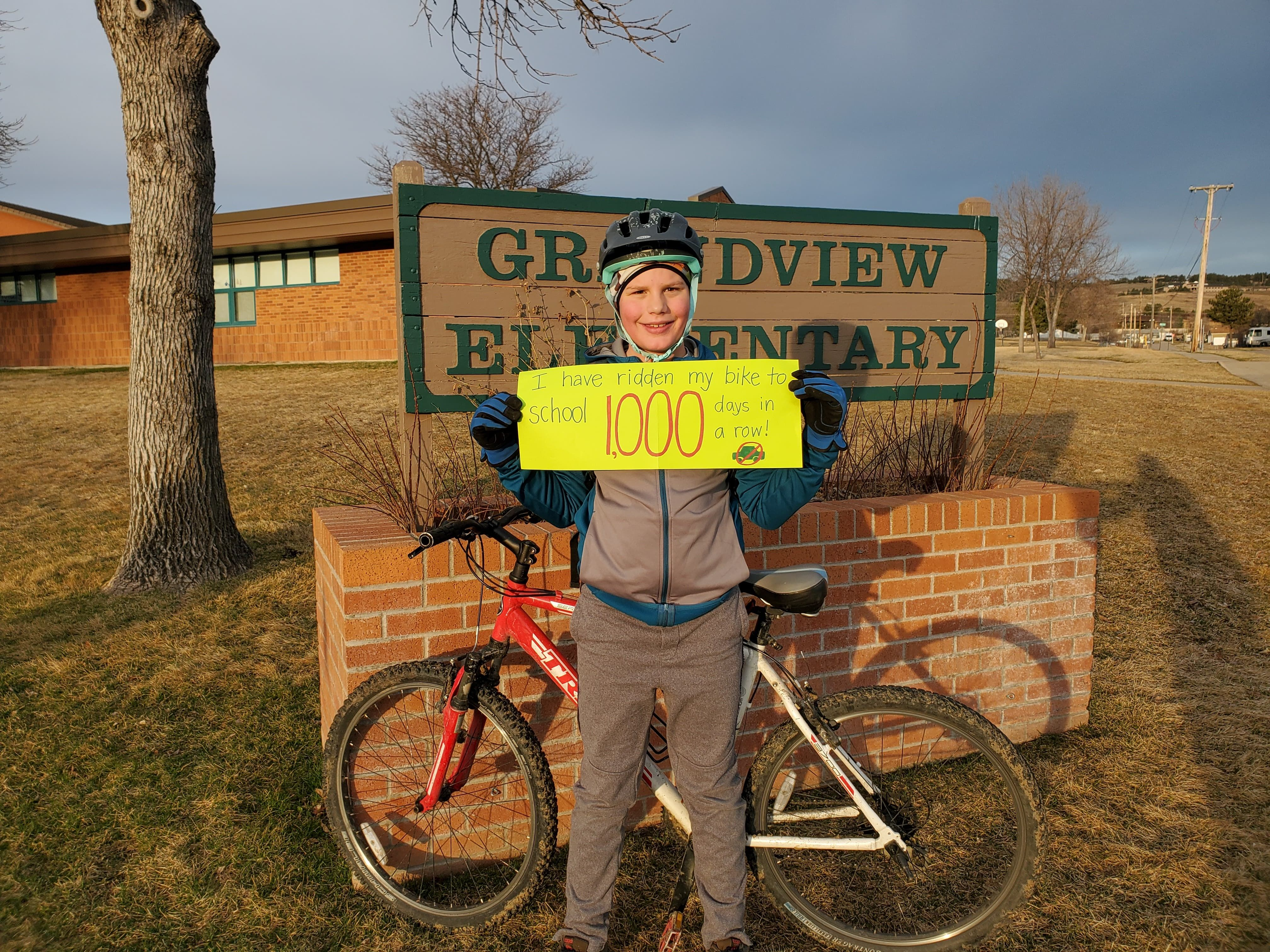 This Young Cyclist Rode His Bike to School Every Day for 1,000 Days