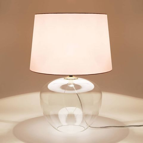 Lampshade, Lighting accessory, Lamp, Light fixture, White, Lighting, Light, Table, Room, Interior design,