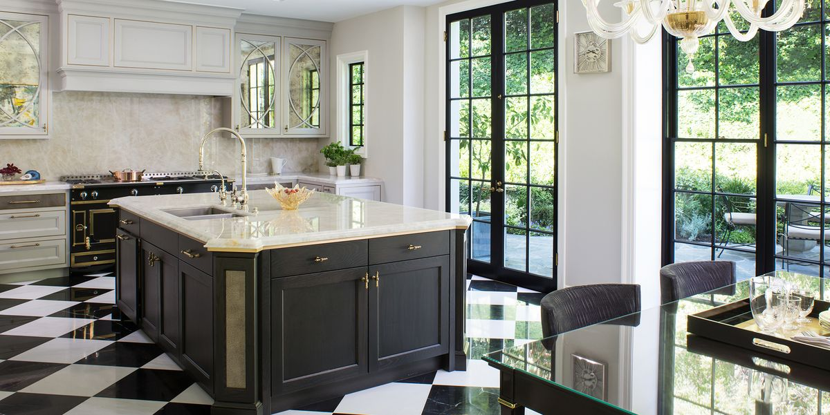 20 Polished Kitchens With Striking Black Kitchen Islands Dark Kitchen Island Trend