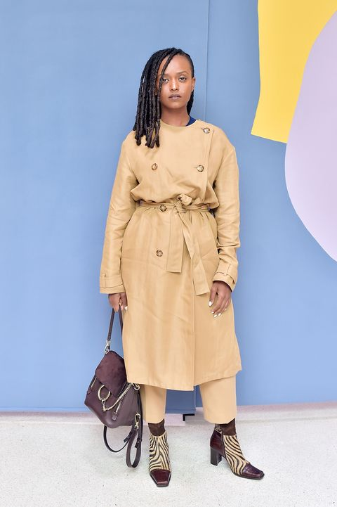 Clothing, Trench coat, Coat, Fashion, Outerwear, Beige, Khaki, Yellow, Overcoat, Brown,