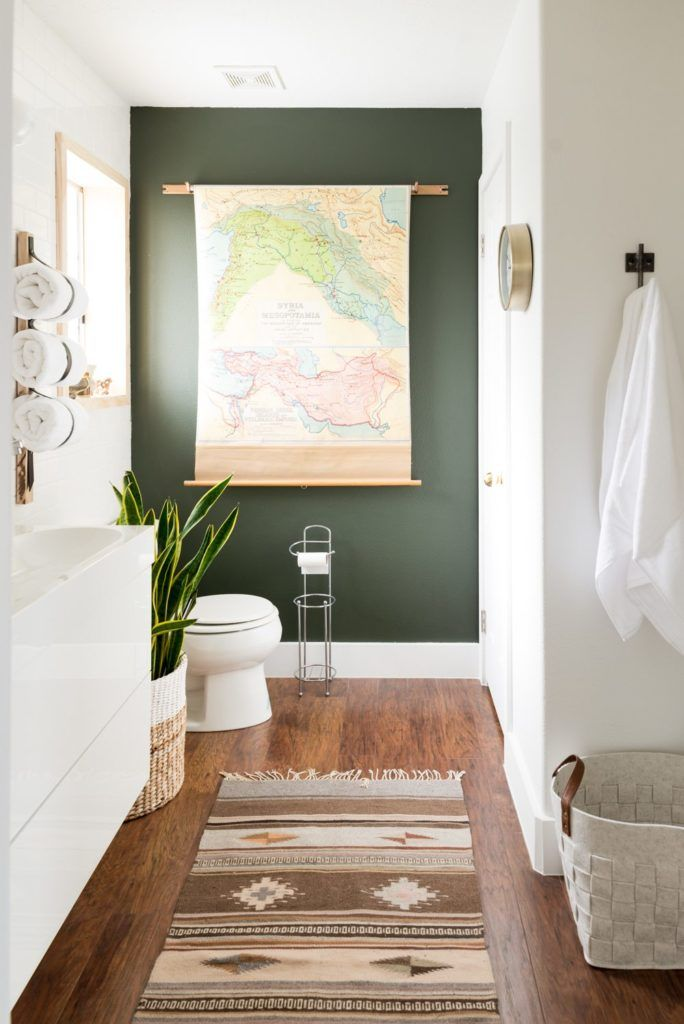 bathroom paint colors hunter green