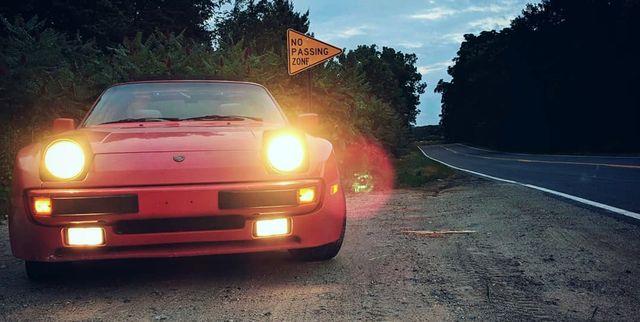 1986 porsche 944 on road