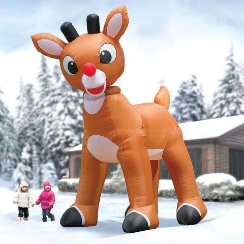 Animated cartoon, Cartoon, Games, Toy, Inflatable, Reindeer, Stuffed toy, Deer, Plush, Animation,
