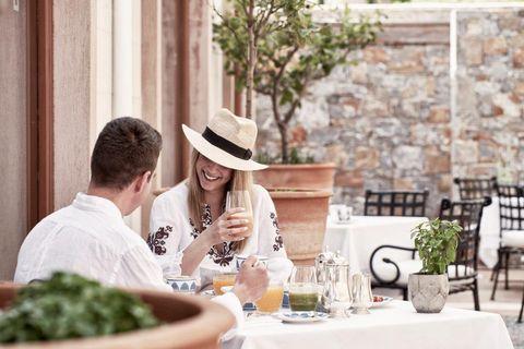 haven restaurant, the blue palace, crete