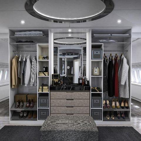 Ceiling, Interior design, Room, Building, Property, Black-and-white, Furniture, Architecture, Boutique, Floor,