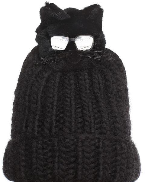 Black, Knit cap, Beanie, Clothing, Headgear, Cap, Costume accessory, Fur, Woolen, Wool,