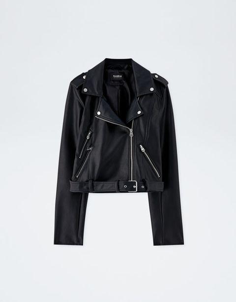 Clothing, Jacket, Leather, Outerwear, Leather jacket, Sleeve, Collar, Textile, Blazer, Zipper,
