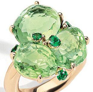 緑と水色を手元に♡癒しの自然色リング