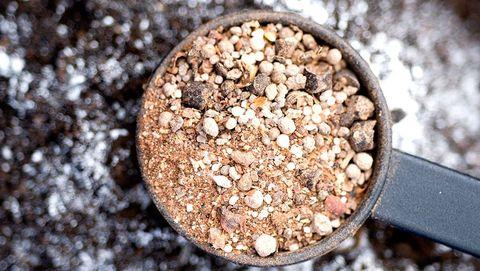 Dry organic fertilizer