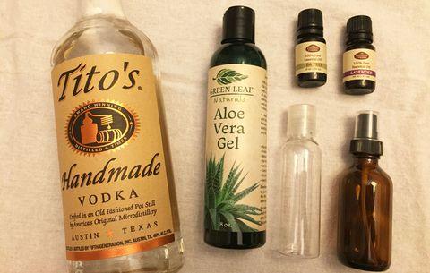natural hand sanitizer supplies