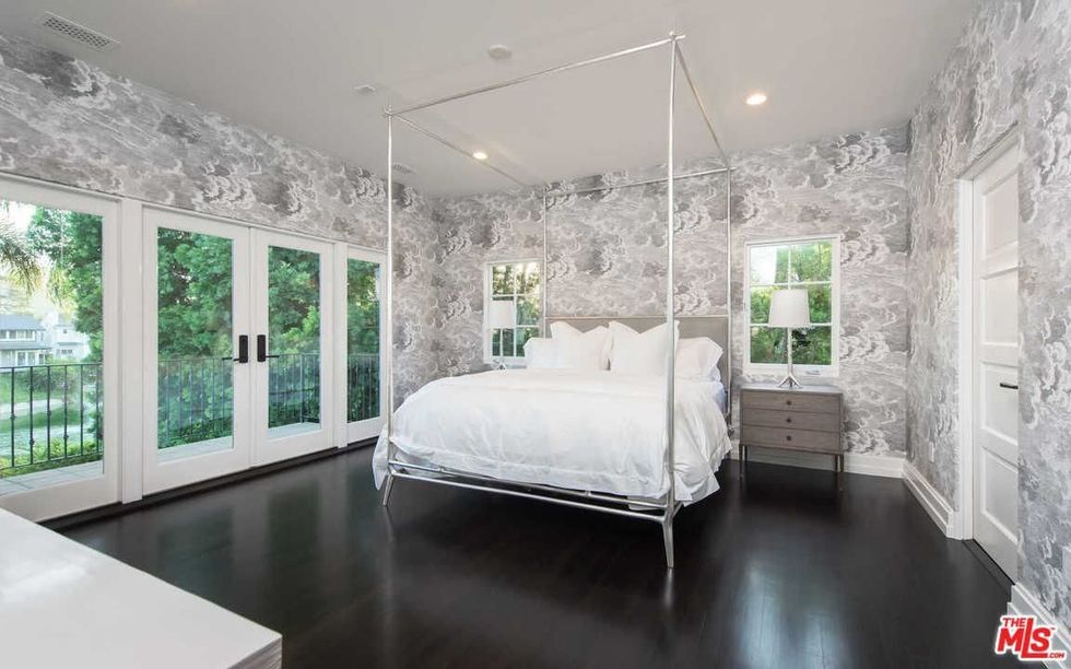 The bedroom is straight-up stunning.