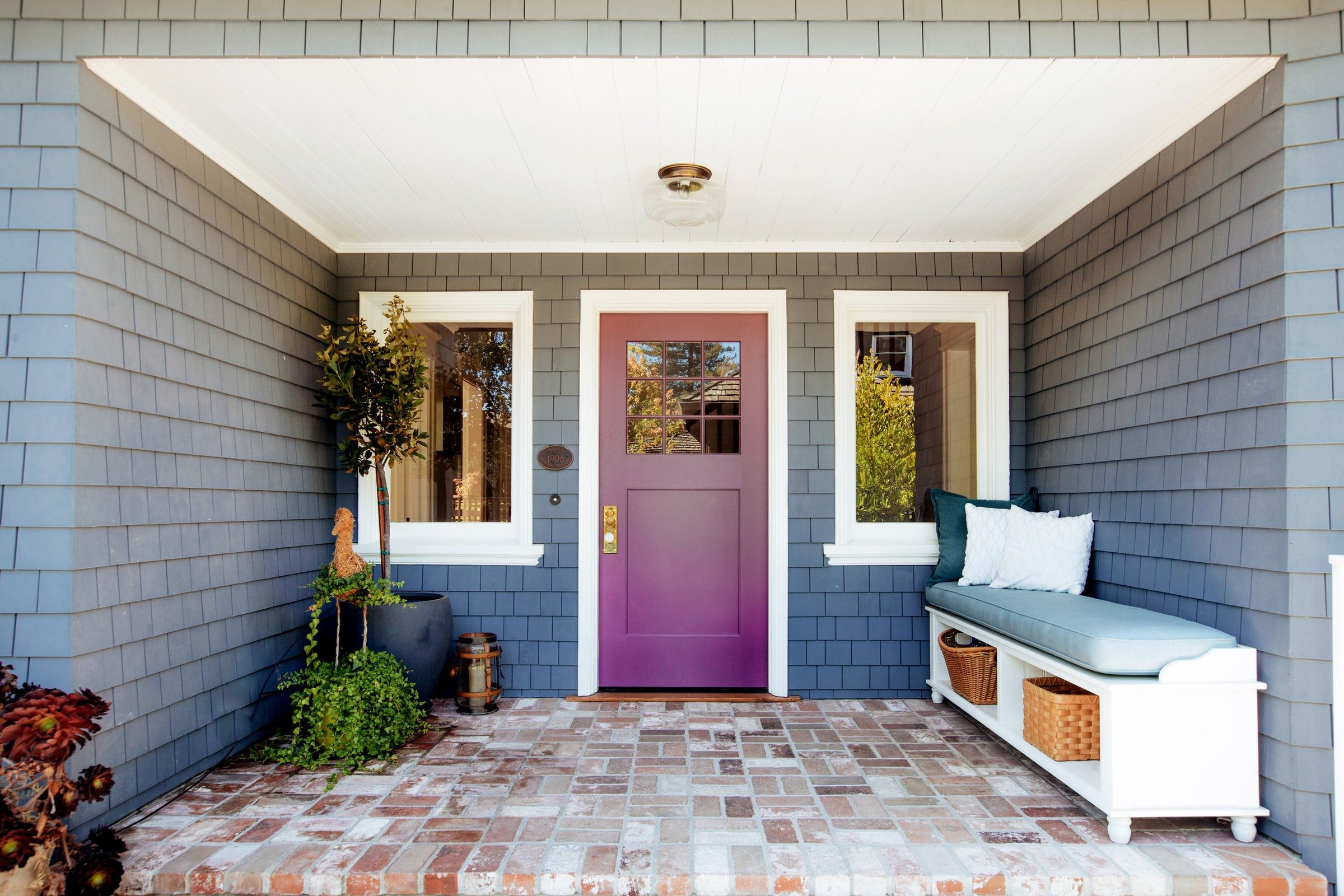 20 fun front door colors paint ideas for your house s front door rh elledecor com front door paint colors for a yellow house