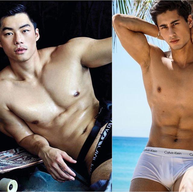 Barechested, Underpants, Briefs, Abdomen, Muscle, Undergarment, Stomach, Model, Chest, Swim brief,