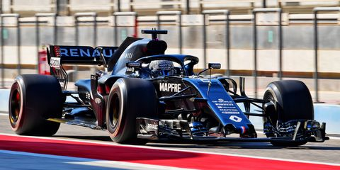 fernando alonso esp in the renault f1 team rs18 rs18 bahrain test, wednesday 4th november 2020 sakhir, bahrain